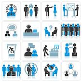 Office Business Icons. Management and Relationship