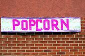 Popcorn sign.