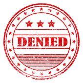 Red grunge denied rubber stamp