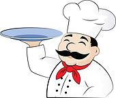 The chef with an empty dish