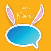 Easter Bunny Chat Bubble