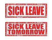 Sick leave-stamps