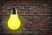 Yellow light bulb.