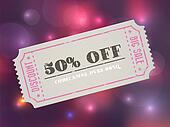 Old concert vector vintage paper sale coupon with code