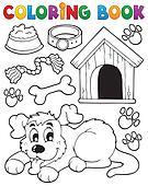 Coloring book dog theme 2