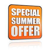 special summer offer orange banner