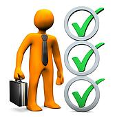 Businessman Abstract Checklist