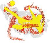 abstract football illustration