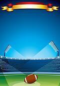American Football, Rugby Stadium. Design Template
