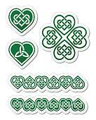 Celtic green heart knot  patterns