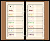 black notebook weekly planner