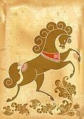 horse stylized