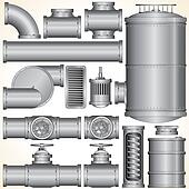 Industrial Pipeline Parts.