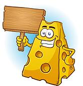 Cheese Cartoon Character Sign