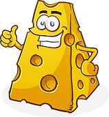 Cheese Cartoon Character Thumbs Up