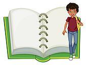 A boy and an empty notebook
