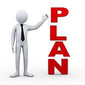 3d man plan word presentation