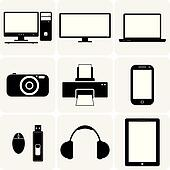 TV,computer, camera, laptop, notebook & other electronic gadgets