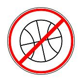 sign prohibiting basketball
