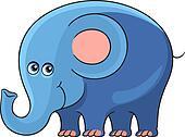Elephant. Cartoon african animal