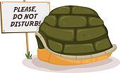 Do Not Disturb Turtle Sleeping