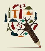 World travel pencil
