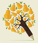 Healthy fruit concept tree