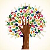 Colorful multi-ethnic tree