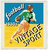 football vintage