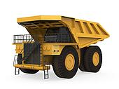 Yellow Mining Truck Isolated