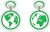 Vector eco recycling earth icon