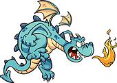 Angry blue dragon
