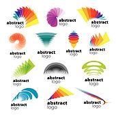 vector collection of abstract logos range