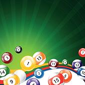 Vector Background with Billiard Balls