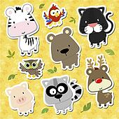 baby animals cartoon vector