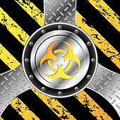 Industrial background design with bio hazard sign