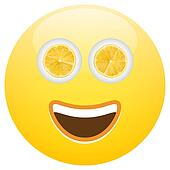 Healthy Food Smiley Face Emoticon