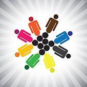 people community as cog wheels working in harmony- simple vector