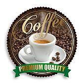 label of premium quality coffee