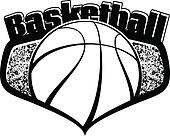 Basketball Shield with Text