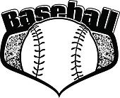 Baseball Shield with Text