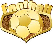 Gold Football Shield with Text