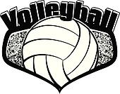 Volleyball Shield with Text
