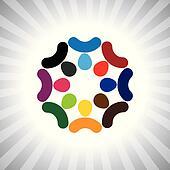 company think tank of executives brainstorming(meeting)- vector