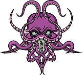 Cthulhu horror emblem