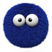 Blue fur ball