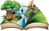 Storybook Clip Art - Royalty Free - GoGraph