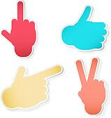 Hand Symbols. Vector illustration