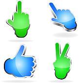 3d Hand Symbols.