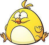 Fat cartoon chicken